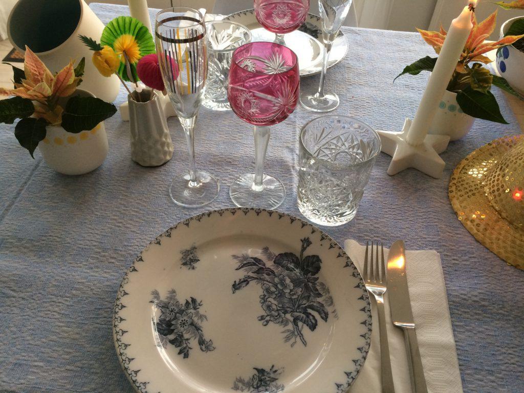 Nytår borddækning nytårsbord finurligefund