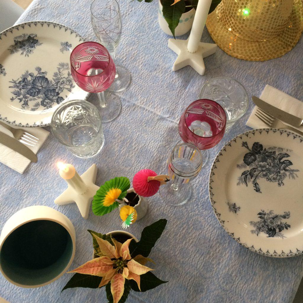 borddækning nytår nytårsbord finurligefund