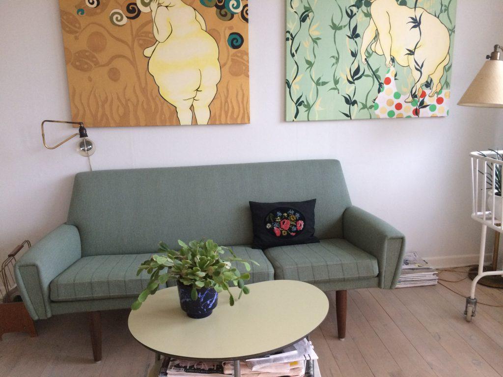 retro sofa genbrug unika kunst finurlige fund