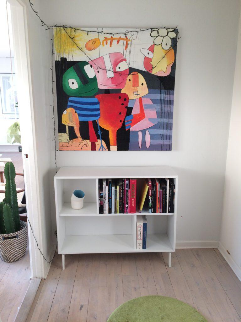 Masser af knald på farverne på dette billede malet af Mette Christina König.